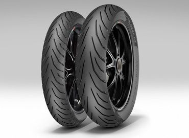 Anvelopa moto asfalt PIRELLI 100/80-14 TL 54S ANGEL CITY Spate 0