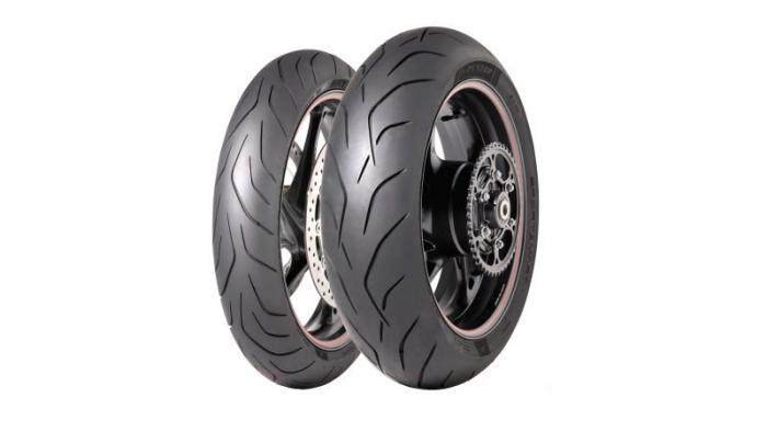 Anvelopa moto asfalt Sports tyre DUNLOP 120/70ZR17 TL 58W SPORTSMART Mk3 Fata 0