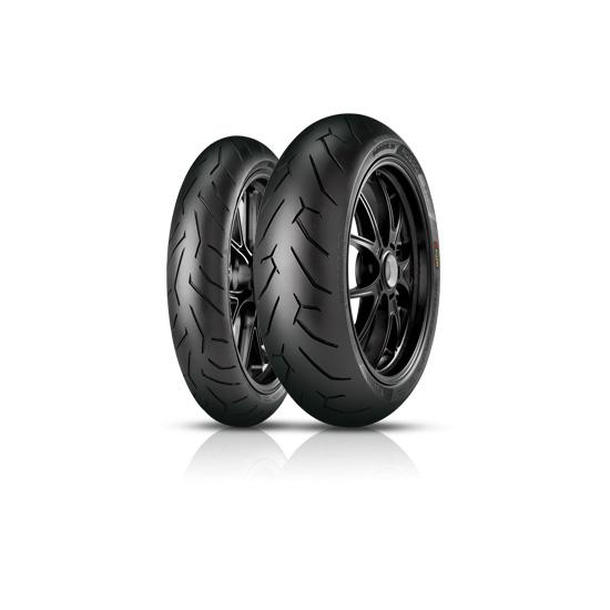 Anvelopa moto asfalt Sports tyre PIRELLI 200/50ZR17 TL 75W DIABLO ROSSO II Spate 0