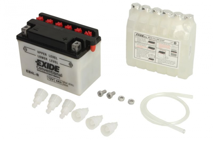Baterie moto Acid/cu intretinere EXIDE 12V 4Ah 50A R+ t 120x70x92 Incarcare uscata cu acid  0