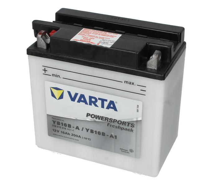 Baterie moto Acid/cu intretinere VARTA 12V 16Ah 200A L+ aerisire stanga 158x89x162 Incarcare uscata cu acid  0