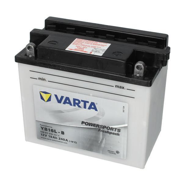Baterie moto Acid/cu intretinere VARTA 12V 19Ah 240A R+ aerisire dreapta 176x101x156 Incarcare uscata cu acid  0
