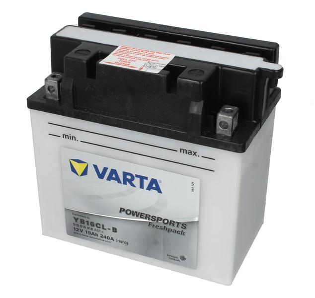 Baterie moto Acid cu intretinere VARTA 12V 19Ah 240A R+ aerisire dreapta 176x101x176 Incarcare uscata cu acid