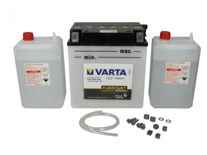 Baterie moto Acid/cu intretinere VARTA 12V 30Ah 300A R+ aerisire dreapta 168x132x176 Incarcare uscata cu acid  0