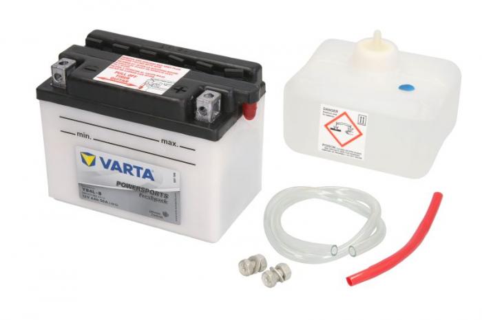 Baterie moto Acid/cu intretinere VARTA 12V 4Ah 50A R+ aerisire dreapta 121x71x93 Incarcare uscata cu acid  0