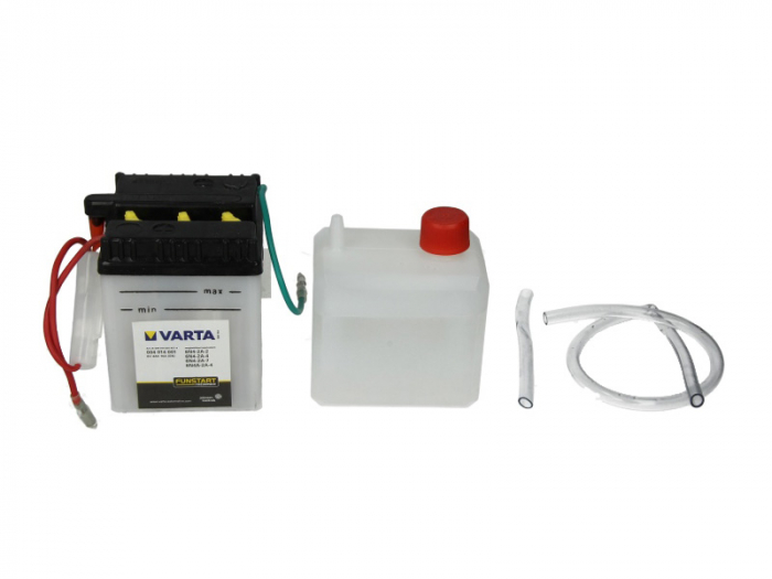 Baterie moto Acid/cu intretinere VARTA 6V 4Ah 10A R+ aerisire dreapta 71x71x96 Incarcare uscata cu acid 0