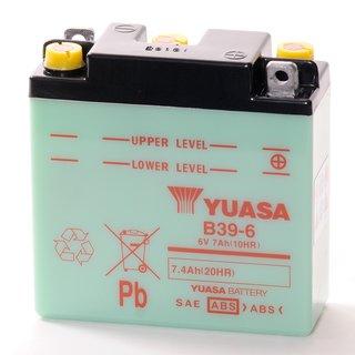 Baterie moto Acid/cu intretinere YUASA 6V 7Ah R+ 126x48x126 Incarcare uscata fara acid 0