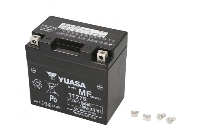 Baterie moto AGM/fara intretinere 12V 6Ah 130A R+ 113x70x105 Incarcare uscata cu acid 0