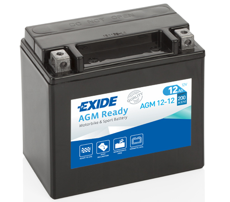 Baterie moto AGM/fara intretinere EXIDE 12V 12Ah 200A L+ 150x87x145  AGM12-12  0