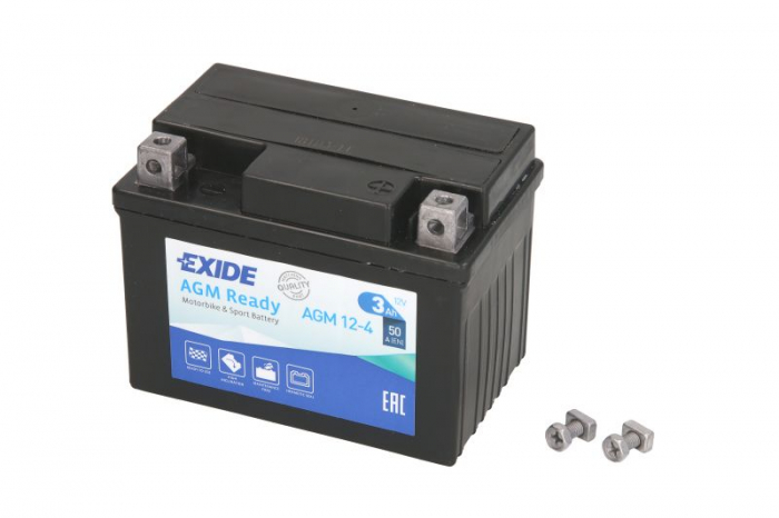 Baterie moto AGM/fara intretinere EXIDE 12V 3Ah 50A R+ 113x70x85  0