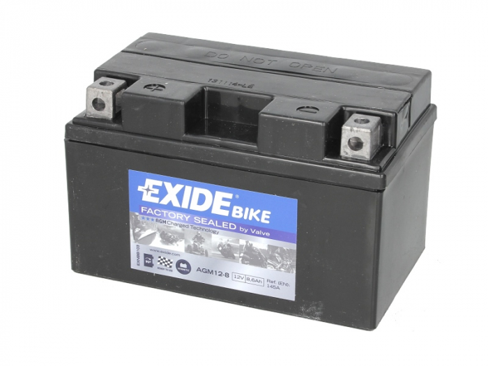 Baterie moto AGM/fara intretinere EXIDE 12V 8,6Ah 145A L+ 150x87x93 AGM12-8  0