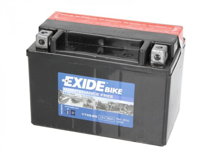 Baterie moto AGM/fara intretinere EXIDE 12V 8Ah 120A L+ 150x87x105 Incarcare uscata cu acid  0
