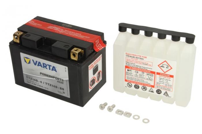 Baterie moto AGM/fara intretinere VARTA 12V 11Ah 230A L+ 150x87x110 Incarcare uscata cu acid  0