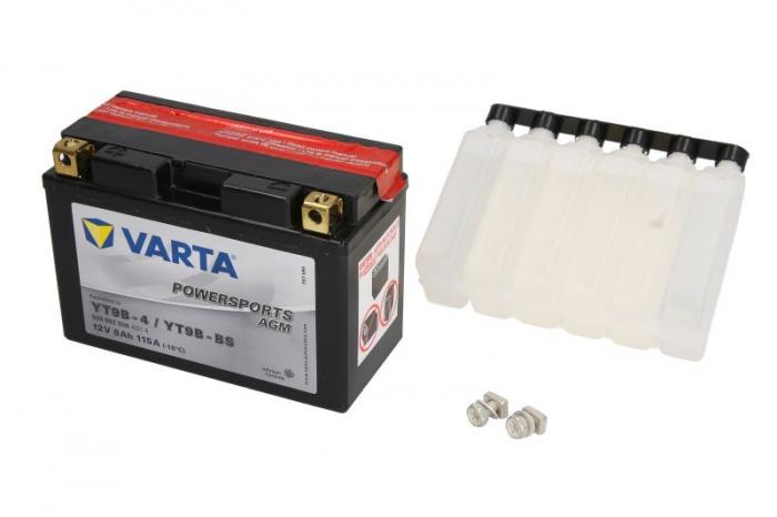 Baterie moto AGM/fara intretinere VARTA 12V 8Ah 115A L+ 149x70x105 Incarcare uscata cu acid 0