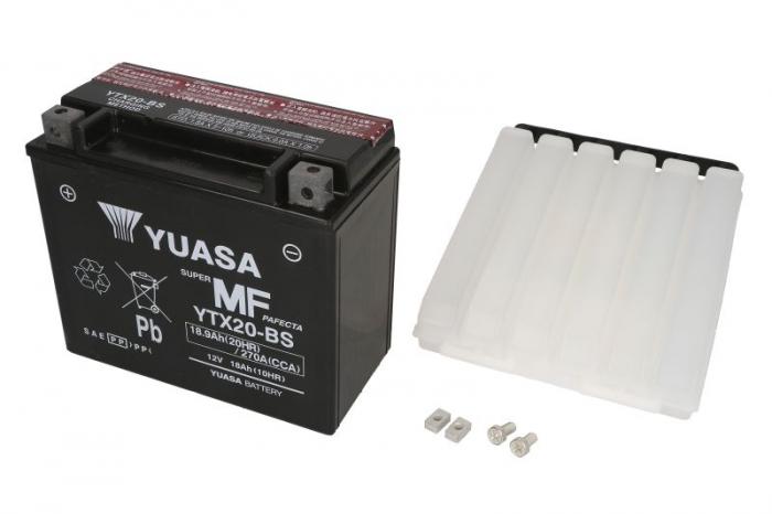 Baterie moto AGM/fara intretinere YUASA 12V 18Ah 270A L+ 175x87x155 Incarcare uscata cu acid  0