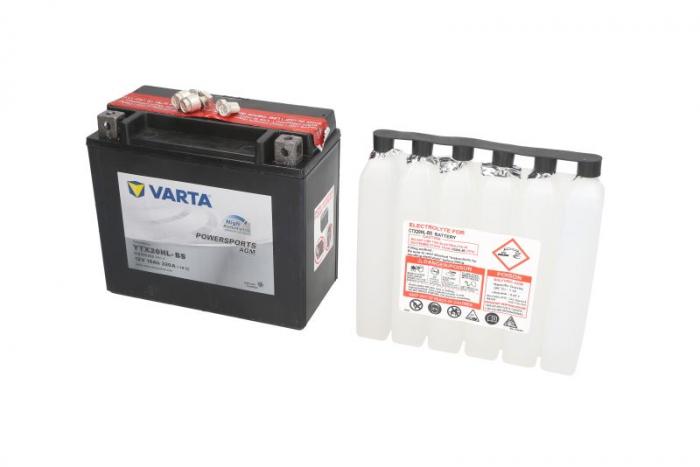 Baterie moto AGM/Incarcare uscata cu acid/fara intretinere VARTA 12V 18Ah 320A R+ 175x87x155 0