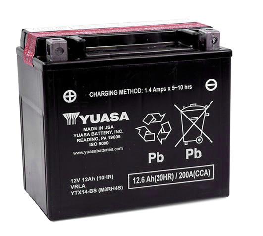 Baterie moto AGM YUASA 12V 12Ah 210A L+ 150x87x145 Incarcare uscata cu acid  0