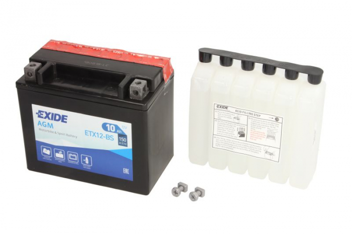 Baterie moto EXIDE 10Ah YTX12-BS 0