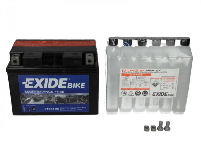 Baterie moto EXIDE 11.2Ah YTZ14-BS 0