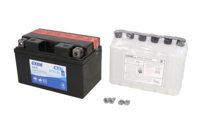 Baterie moto EXIDE 8.6Ah YTZ10-BS [0]