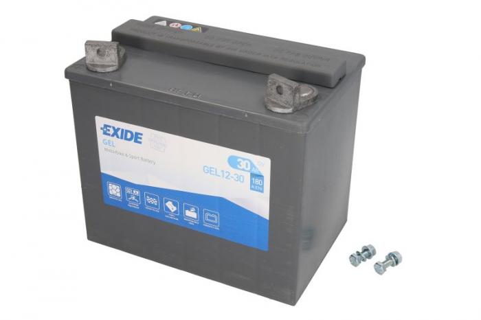 Baterie moto Gel EXIDE 12V 30Ah 180A L+ 197x132x186  GEL12-30 0