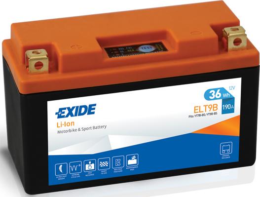 Baterie moto Lithium-ion/fara intretinere EXIDE 12V 36Wh 190A L+ 150x65x92   0