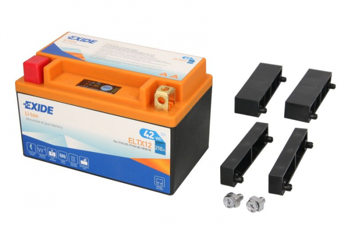 Baterie moto Lithium-ion/fara intretinere EXIDE 12V 42Wh 210A L+ 150x87x93   0