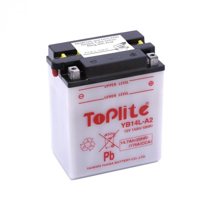Baterie Toplite Yuasa - YB14L-A2 (cu intretinere, nu include acid) 0