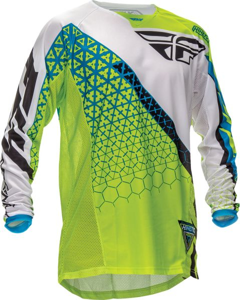 "Bluza FLY KINETIC JERSEY GRN/WHT L ""TRIFECTA"" 0"