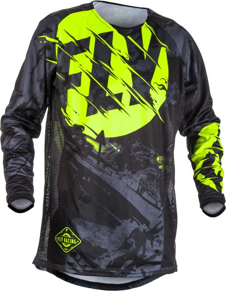 Bluza off-road FLY RACING KINETIC OUTLAW culoare negru, marime M 0