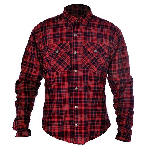 Camasa KICKBACK OXFORD culoare rosu/negru, marime XL 0