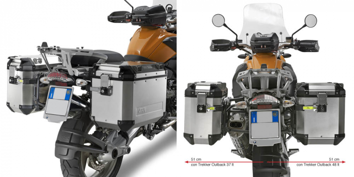 Cutii laterale metal GIVI OUTBACK BMW R1200GS 2004-2012 0