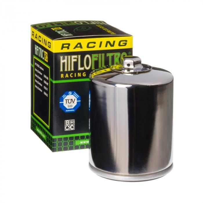 Filtru ulei moto crom filtet de 17mm HARLEY DAVIDSON Hiflo HF170CRC 0