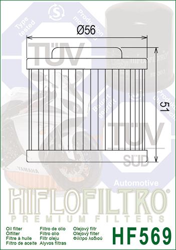 Filtru ulei moto MV AGUSTA Hiflo HF569 1