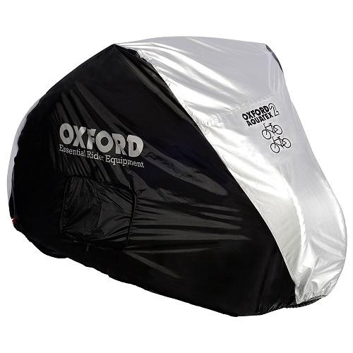 Husa protectie bicicleta OXFORD AQUATEX CC1 culoarea argintiu marimea M doua biciclete impermeabil 0