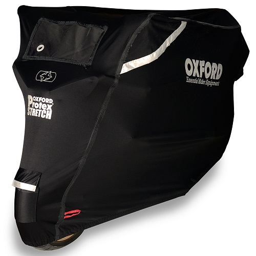 Husa protectie motocicleta OXFORD PROTEX STRETCH Outdoor CV1 culoare negru, marime S - rezistenta la apa [0]
