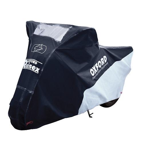 Husa protectie motocicleta OXFORD RAINEX culoare negru/argintiu, marime S - rezistenta la apa [0]
