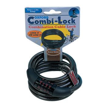 Lacat combinatie cu cablu 1500mmx6mm, Negru [0]