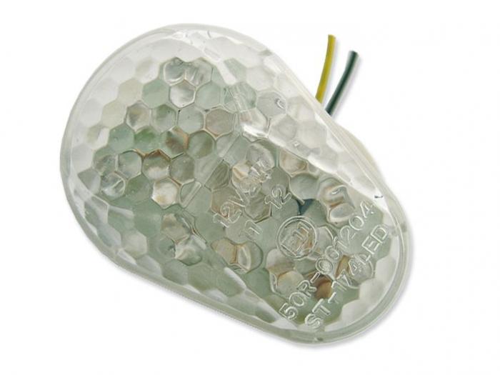 Lampa semnalizare moto fata, dreapta  LED  set 2 semnalizatoare (acoperire transparenta) KAWASAKI EX, NINJA, Z, ZR-7, ZRX, ZX-10R, ZX-12R, ZX-6R, ZX-9R 250-1200 dupa 1994 [0]