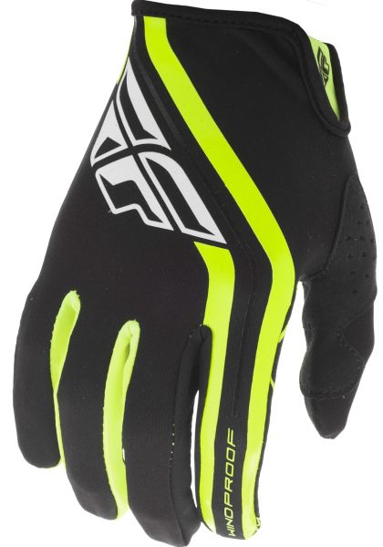 Manusi cross/enduro FLY RACING WINDPROOF Lite culoare negru/fluorescent, marime 6 0