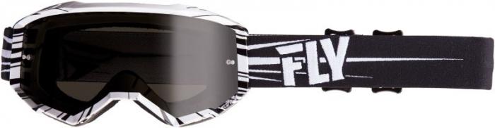 Ochelari moto FLY RACING 2019 Zone culoare negru/alb 0