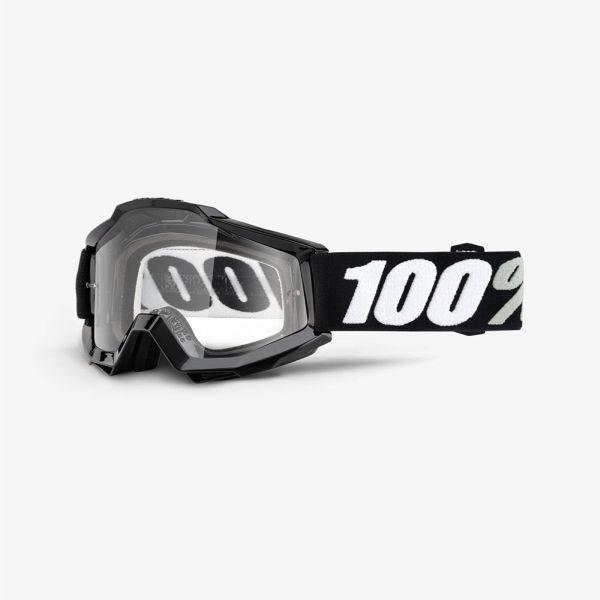 Ochelari Off-road  moto 100% ACCURI OTG Tornado culoare negru/alb, 2 straturi, viziera, transparent 0