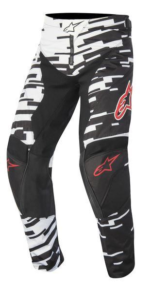 Pantaloni cross/enduro ALPINESTARS MX RACER BRAAP culoare negru/alb, marime 30 0