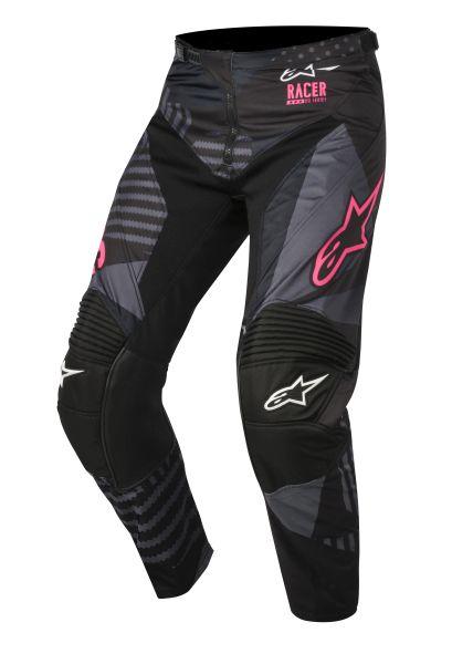 Pantaloni cross/enduro ALPINESTARS MX RACER TACTICAL culoare negru/fluorescent/roz, marime 28 0
