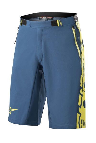 Pantaloni scurti bicicleta ALPINESTARS MESA culoare albastru/galben, marime 34 0
