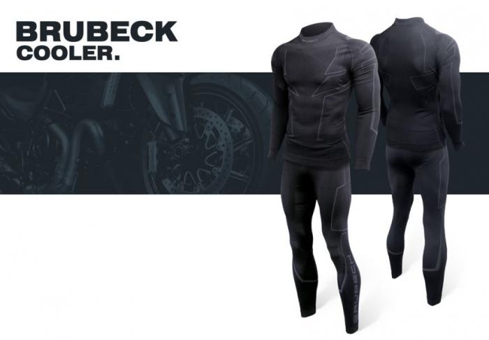 Pantaloni termoactiv BRUBECK COOLER NEW culoare negru, marime 2XL 0