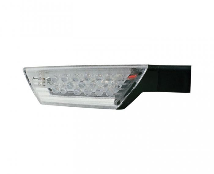 Set 2 semnalizatoare moto fata/spate, stanga/dreapta  LED   (contine rezistenta aditionala; transparent; universal) [0]