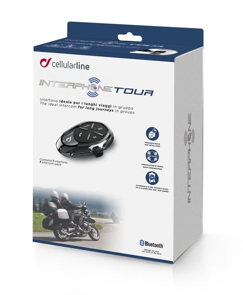 Sistem de comunicare motociclete Interphone TOUR 1 bucata [0]