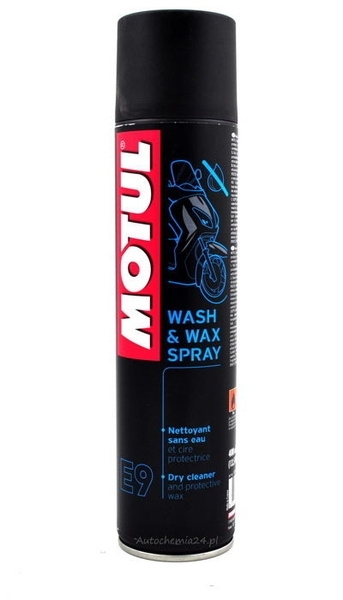 Spray intretinere moto, Motul Wash&Wax Spray E9, 400ml 0
