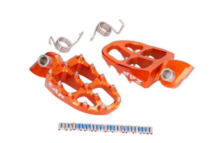 Suport picioare aluminiu E-PEG  Yamaha, Gas Gas, KTM, HSQ nie pasują do KTM SX oraz Husky FC dupa 2016 portocaliu [0]
